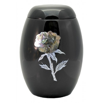 Always and Forever Memorial Products: Black Rose Fibreglass Urn