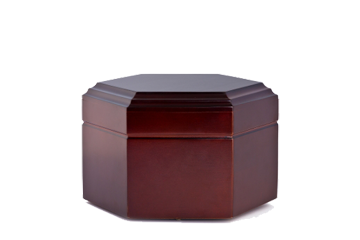 Always and Forever Memorial Products: Solid Mahogany Hexagon Urn