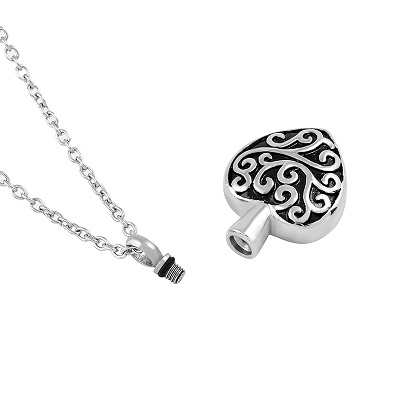 Always and Forever Memorial Products: Deco Heart Cremation Pendant