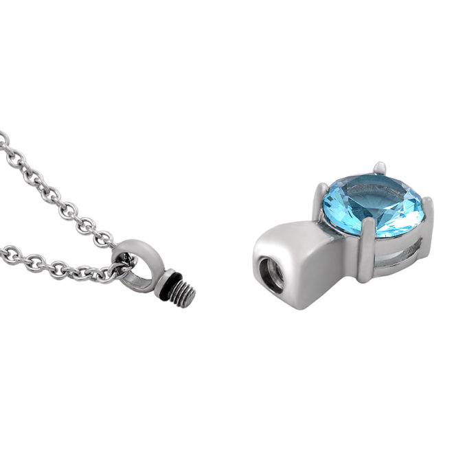 Always and Forever Memorial Products: Blue Ruby Cremation Pendant
