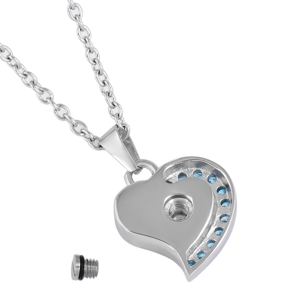 Always and Forever Memorial Products: Heart Cremation Pendant