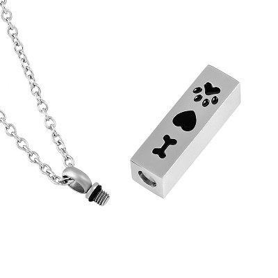 Always and Forever Memorial Products: Dog Paw Cremation Pendant