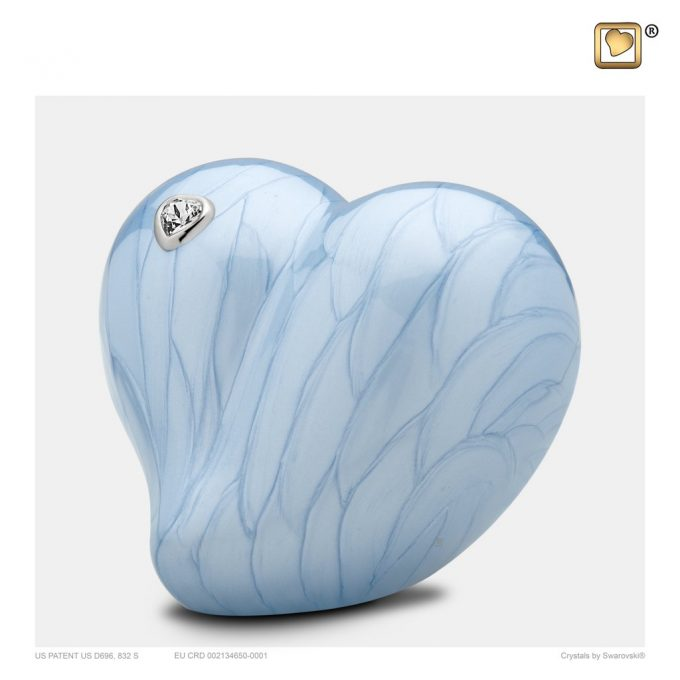 Always and Forever Memorial Products: Love Heart Blue Urn