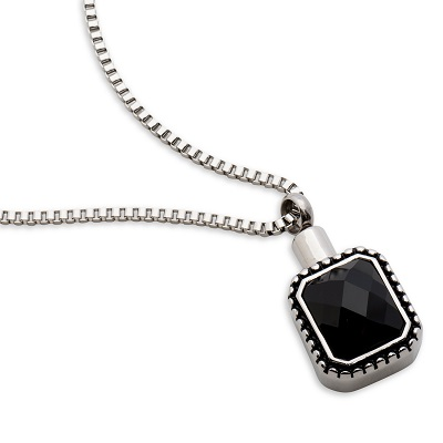 Always and Forever Memorial Products: Black Cremation Pendant