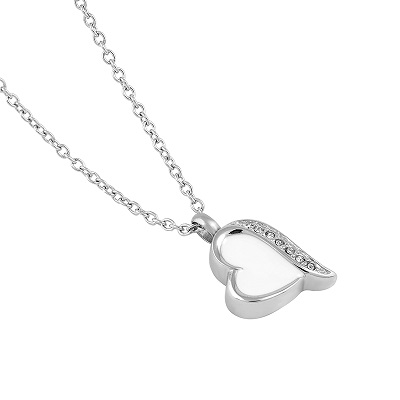 Always and Forever Memorial Products: Heart Shaped Cremation Pendant