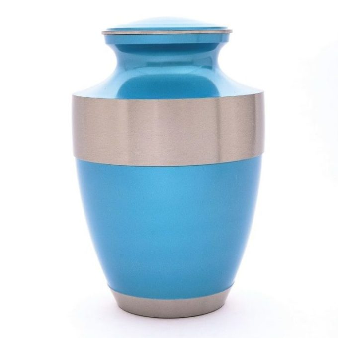 Always and Forever Memorial Products: Azure Brass Urn