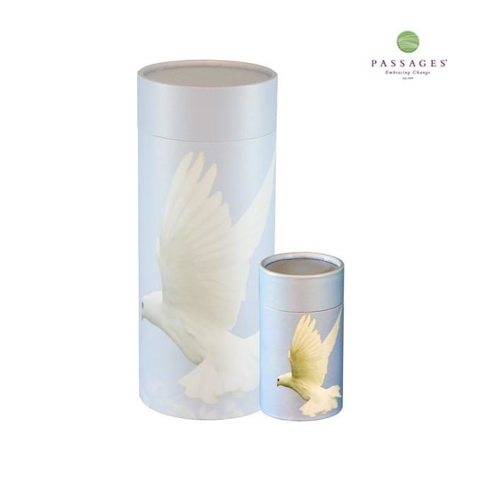 Always and Forever Memorial Products: Ascending dove mini Scattering Tube