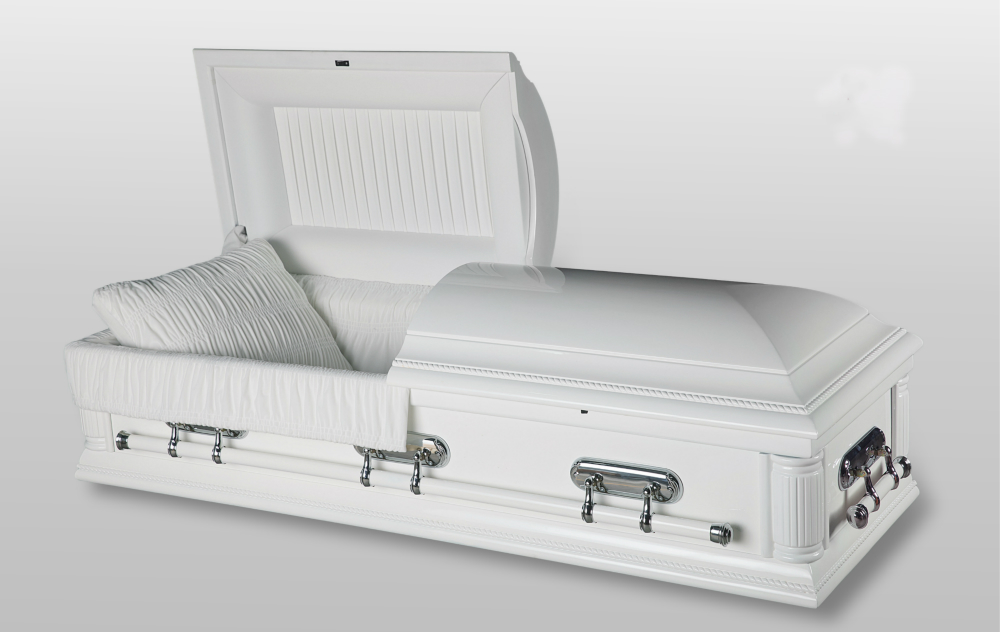 Always And Forever Memorial Products: Purity White Casket