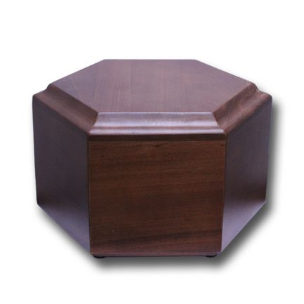 Solid Mahogany Hexagon Urn