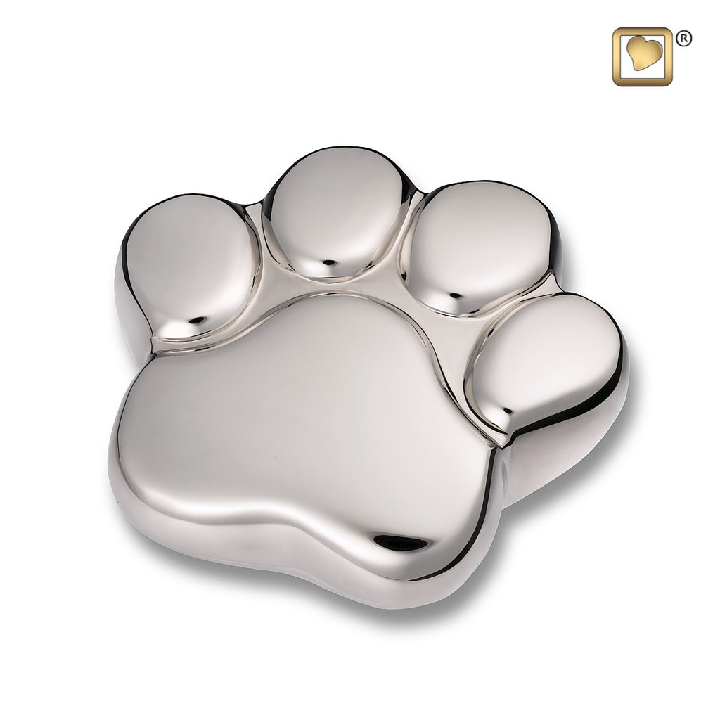 Bright Silver Keepsake Paw