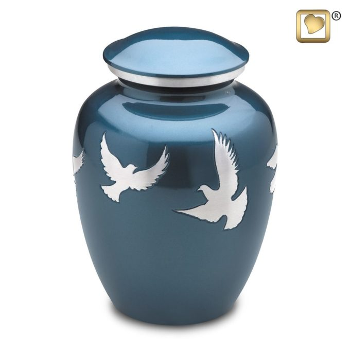 Always and Forever Memorial Products: Divine Flying Doves Urn