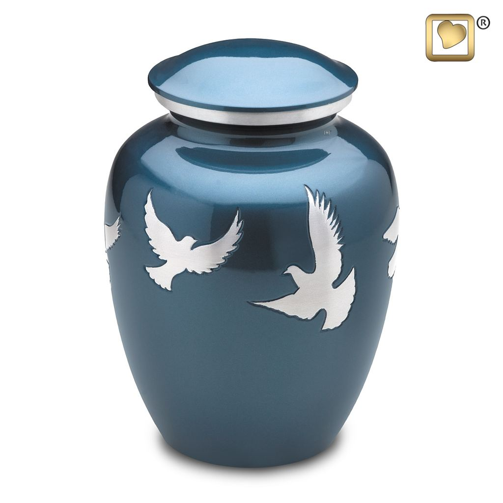 Divine Flying Doves Urn