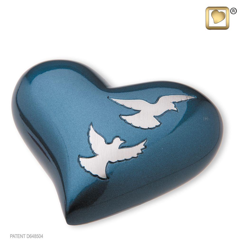 Divine Flying Doves Keepsake Heart