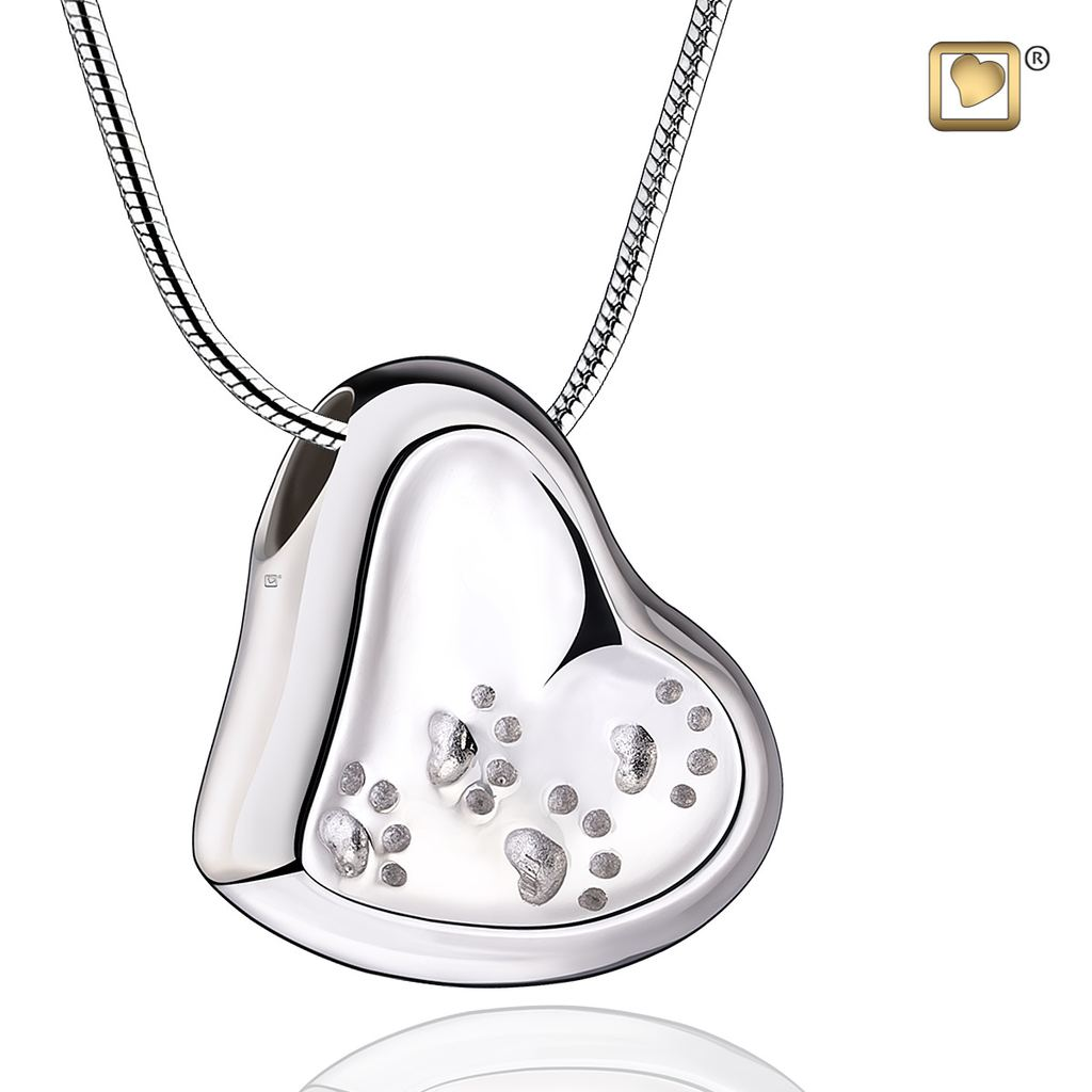 Always and Forever Memorial Products: Leaning Heart Cremation Pendant
