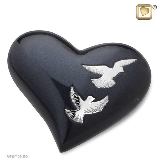 Always and Forever Memorial Products: Nirvana Adieu Heart Keepsake Urn