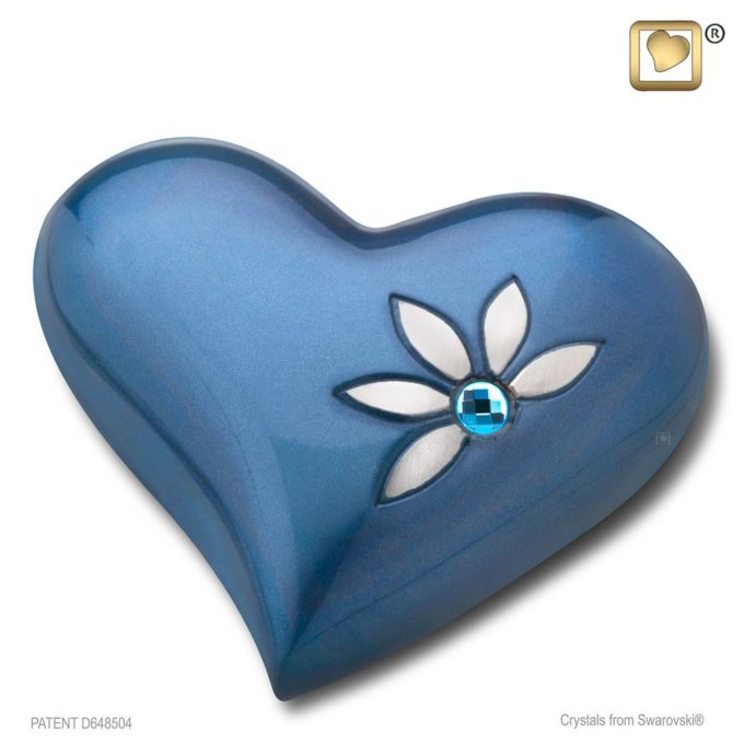 Always and Forever Memorial Products: Azure Heart Keepsake Urn