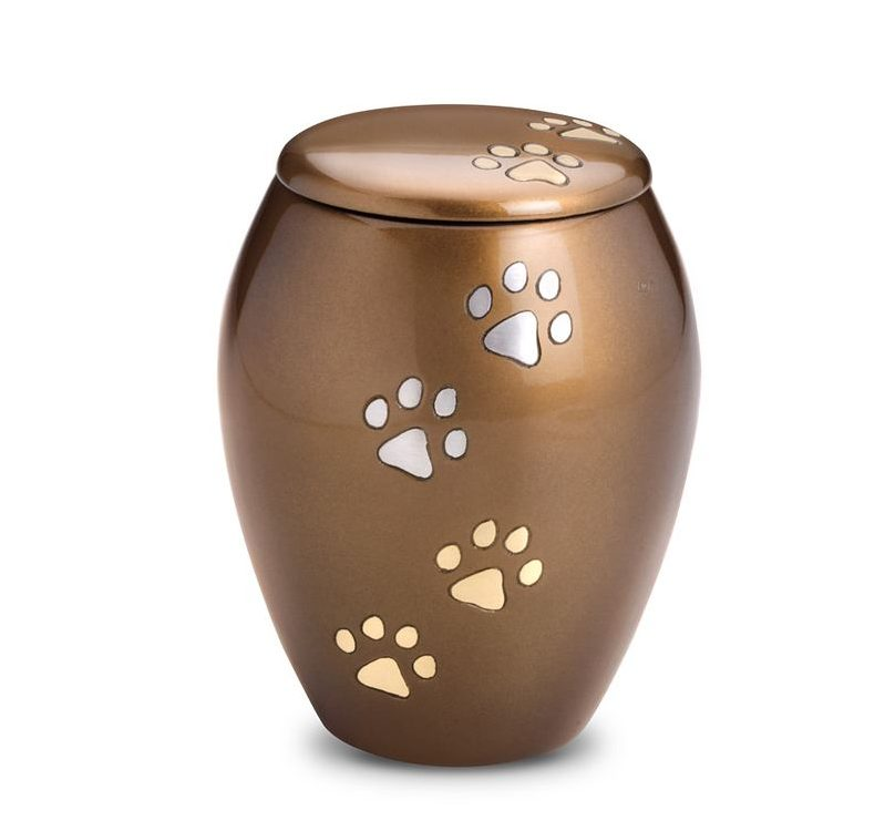 Brass Paw Dog Urn