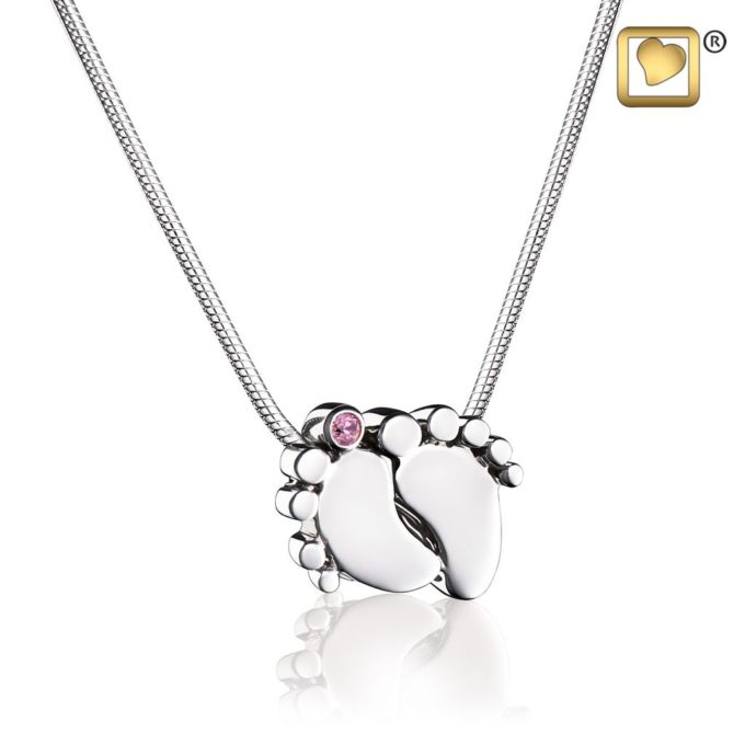Always and Forever Memorial Products: Baby Feet Cremation Pendant