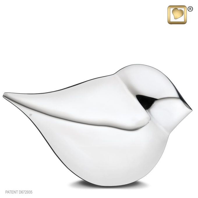 Always and Forever Memorial Products: Silver Soul Bird Urn