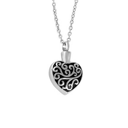 Art Heart Urn Pendant