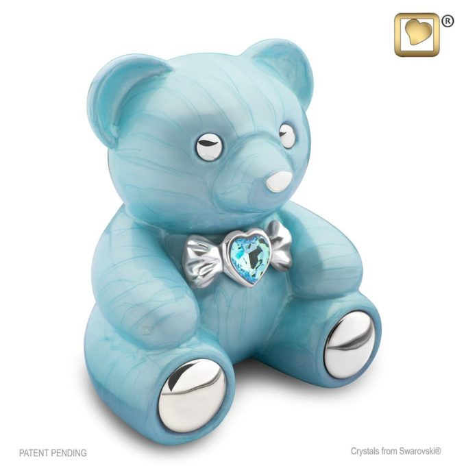 Always and Forever Memorial Products: Cuddle Bear Urn Blue