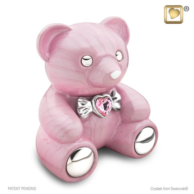 Always and Forever Memorial Products: Cuddle Bear Urn Pink