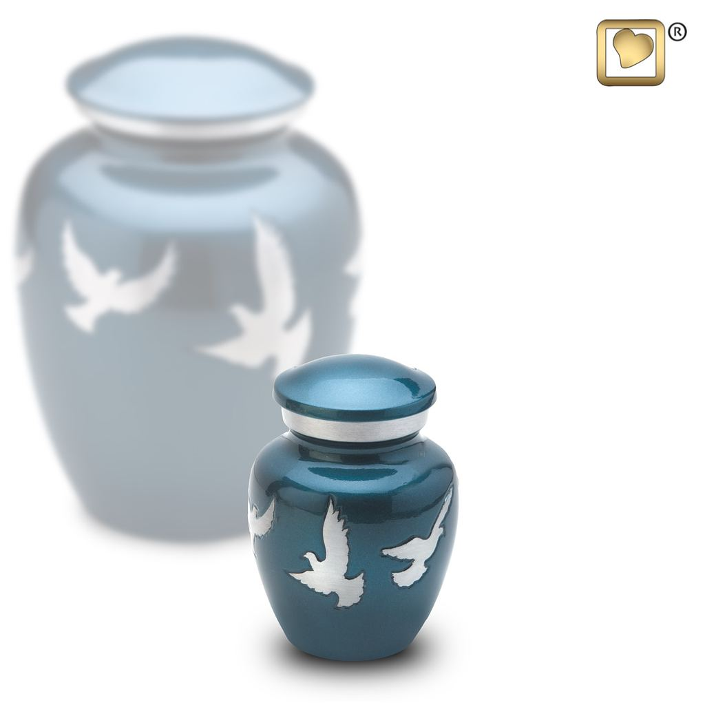 Always and Forever Memorial Products: Divine Flying Doves Keepsake Urn