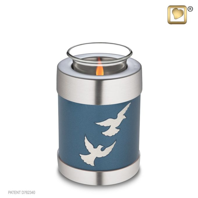Always and Forever Memorial Products: Flying Dove Tealight Urn