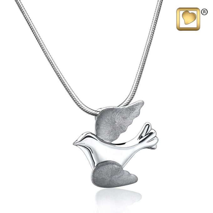 Always and Forever Memorial Products: Flying Dove Cremation Pendant