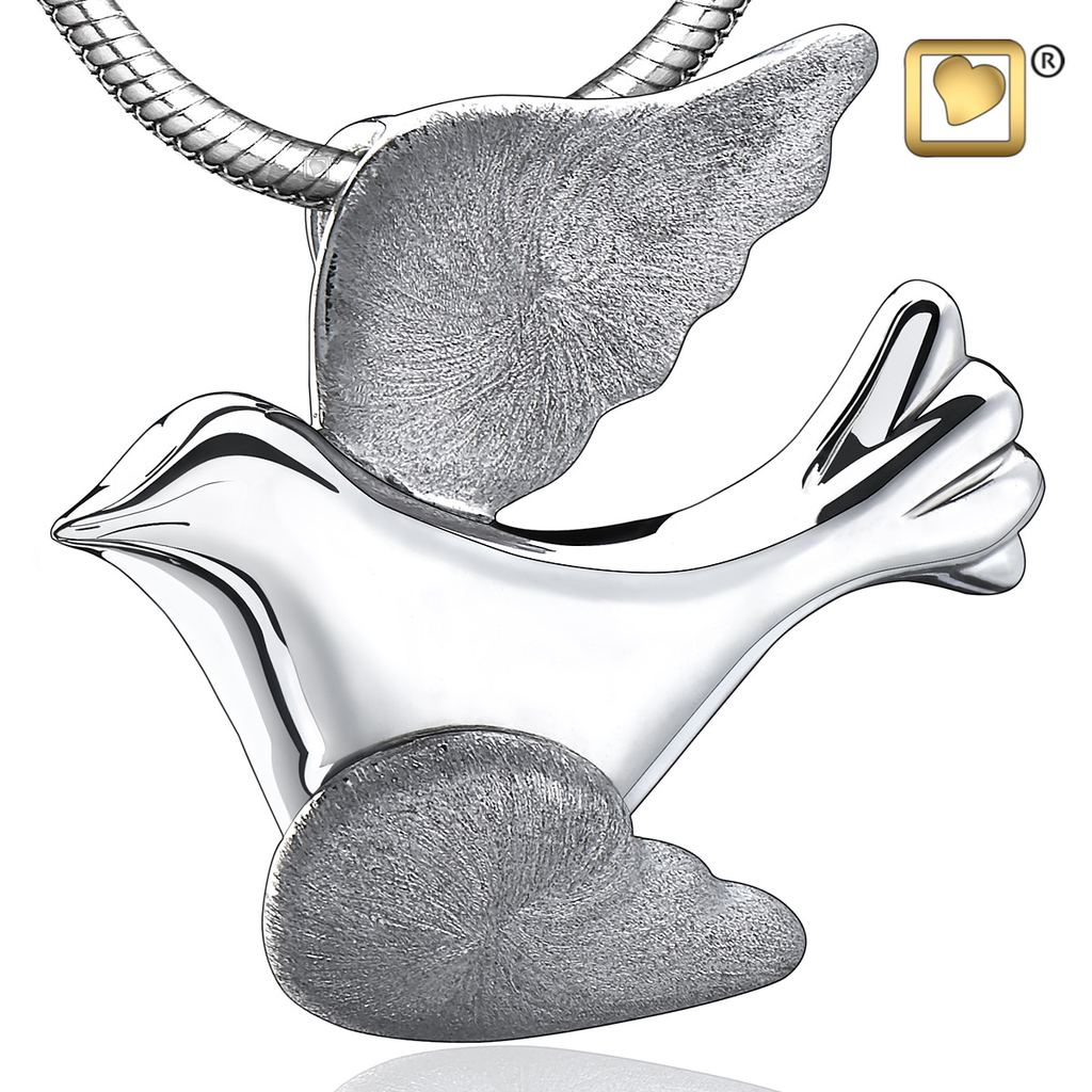 Flying Dove Cremation Pendant