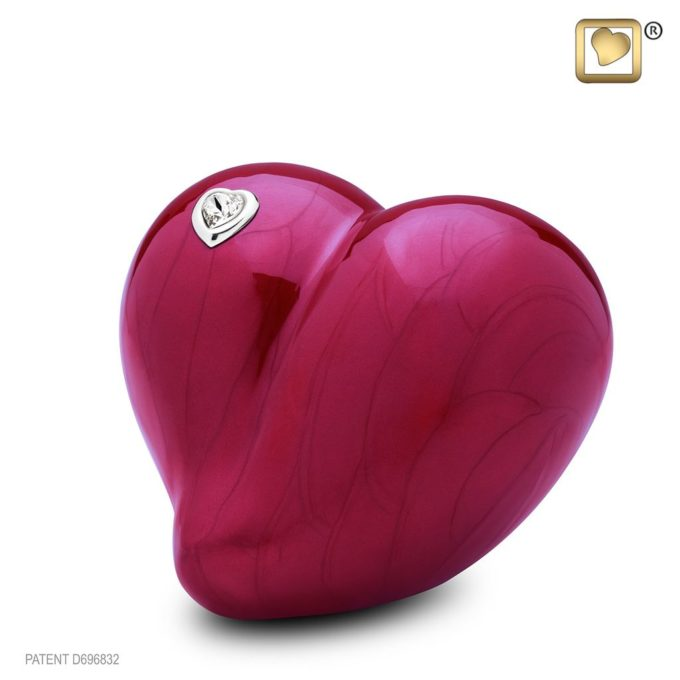 Always and Forever Memorial Products: Love Heart Urn Red