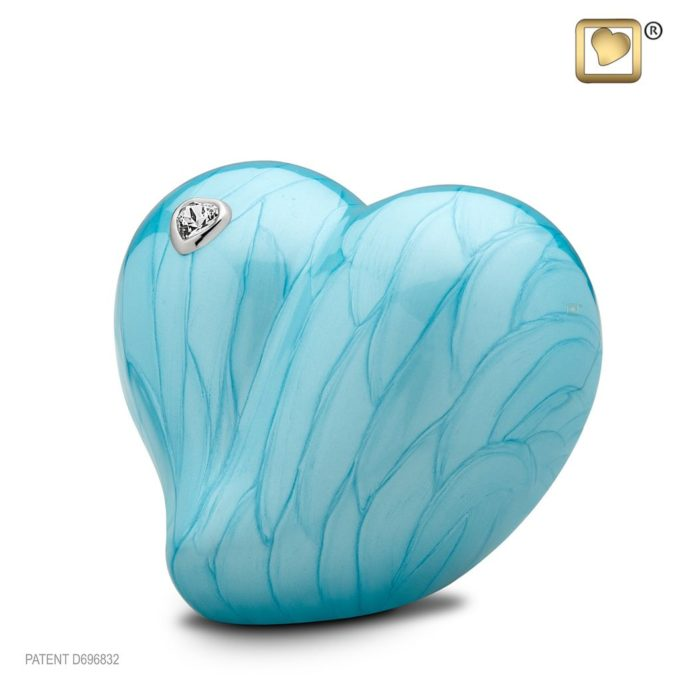 Always and Forever Memorial Products: Love Heart Urn Blue