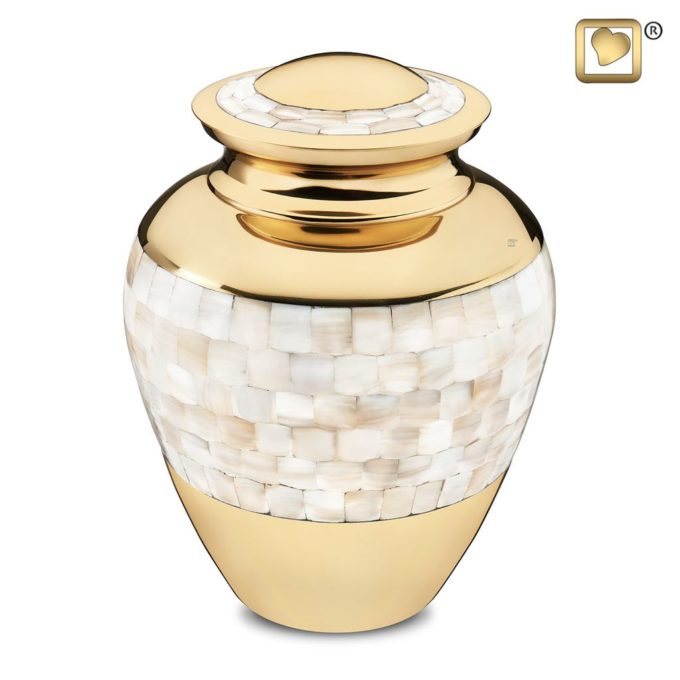 Always and Forever Memorial Products: Mother Of Pearl Cremation Urn