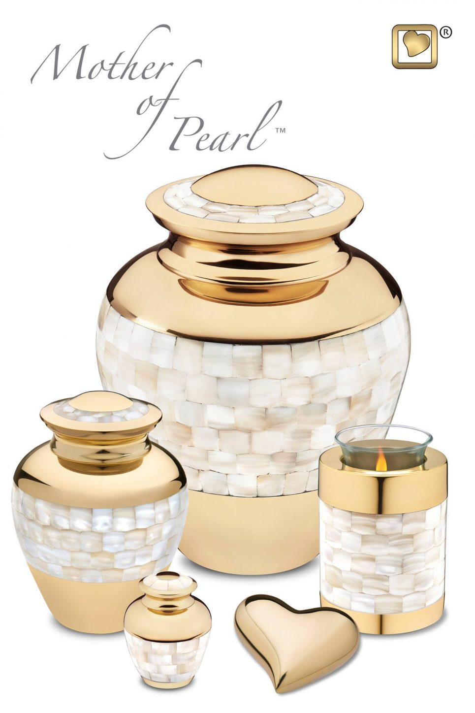Always and Forever Memorial Products: Mother of Pearl Memorial Collection