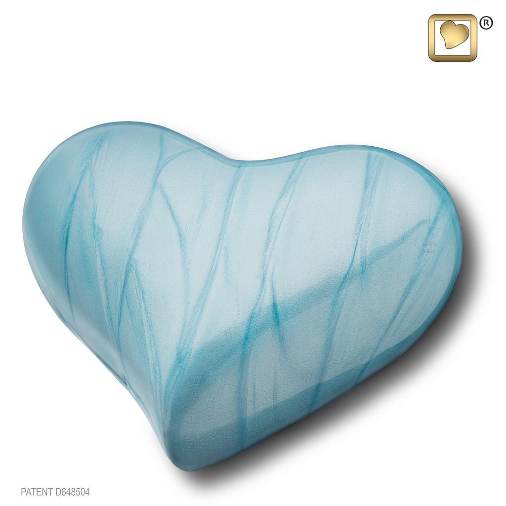 Pearl Blue Keepsake Heart