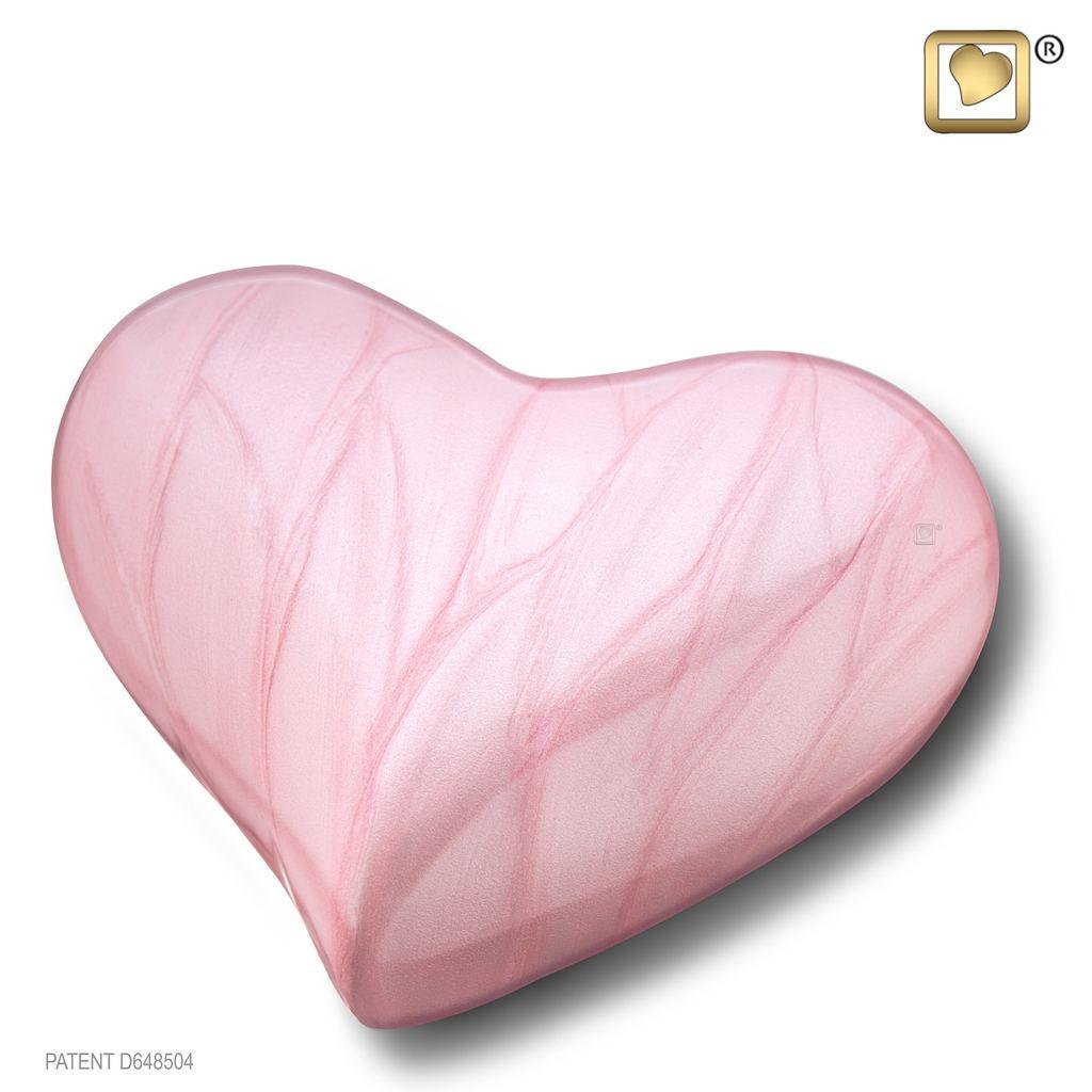 Pearl Pink Keepsake Heart