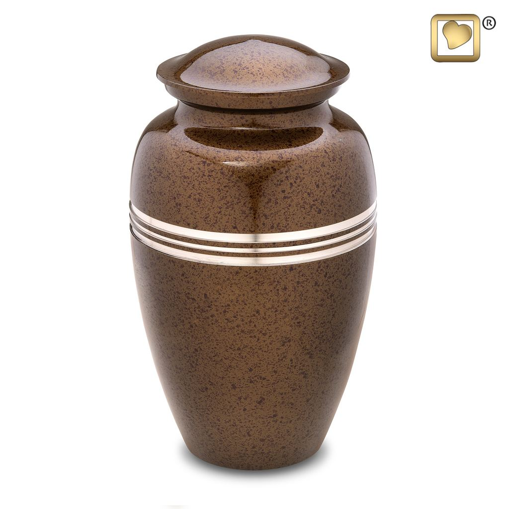 Always and Forever Memorial Products: Speckled Auburn Urn