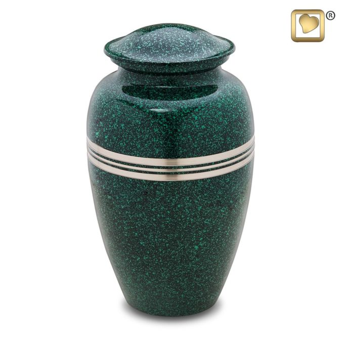 Always and Forever Memorial Products: Speckled Emerald Urn