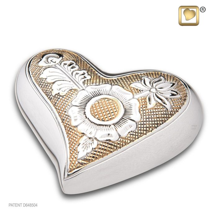 Always and Forever Memorial Products: Monarch Jali Heart Keepsake Urn