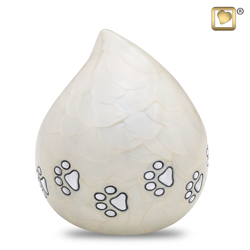 Always and Forever Memorial Products: LoveDrop Pet Urn Pearl