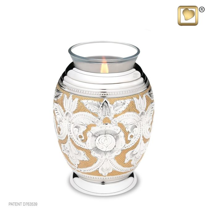 Always and Forever Memorial Products: Monarch Jali Tealight Urn
