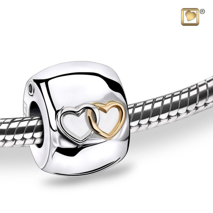 Always and Forever Memorial Products: Entwined Heart Cremation Bead