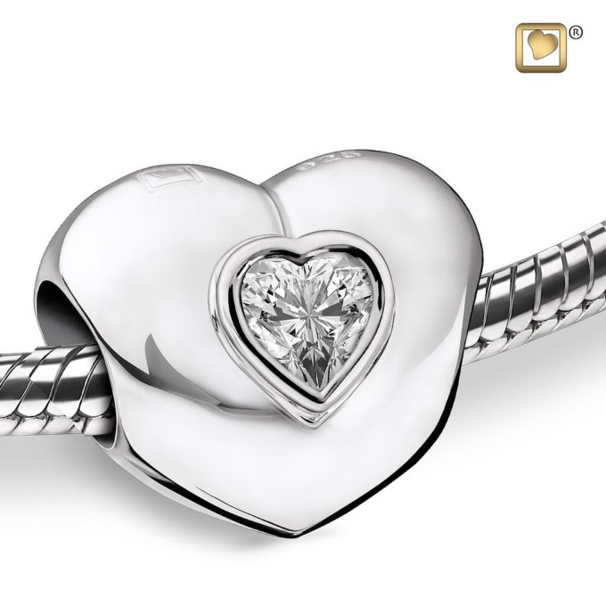 Heart Shaped Cremation Bead For Ashes LoveUrns Treasure Collection
