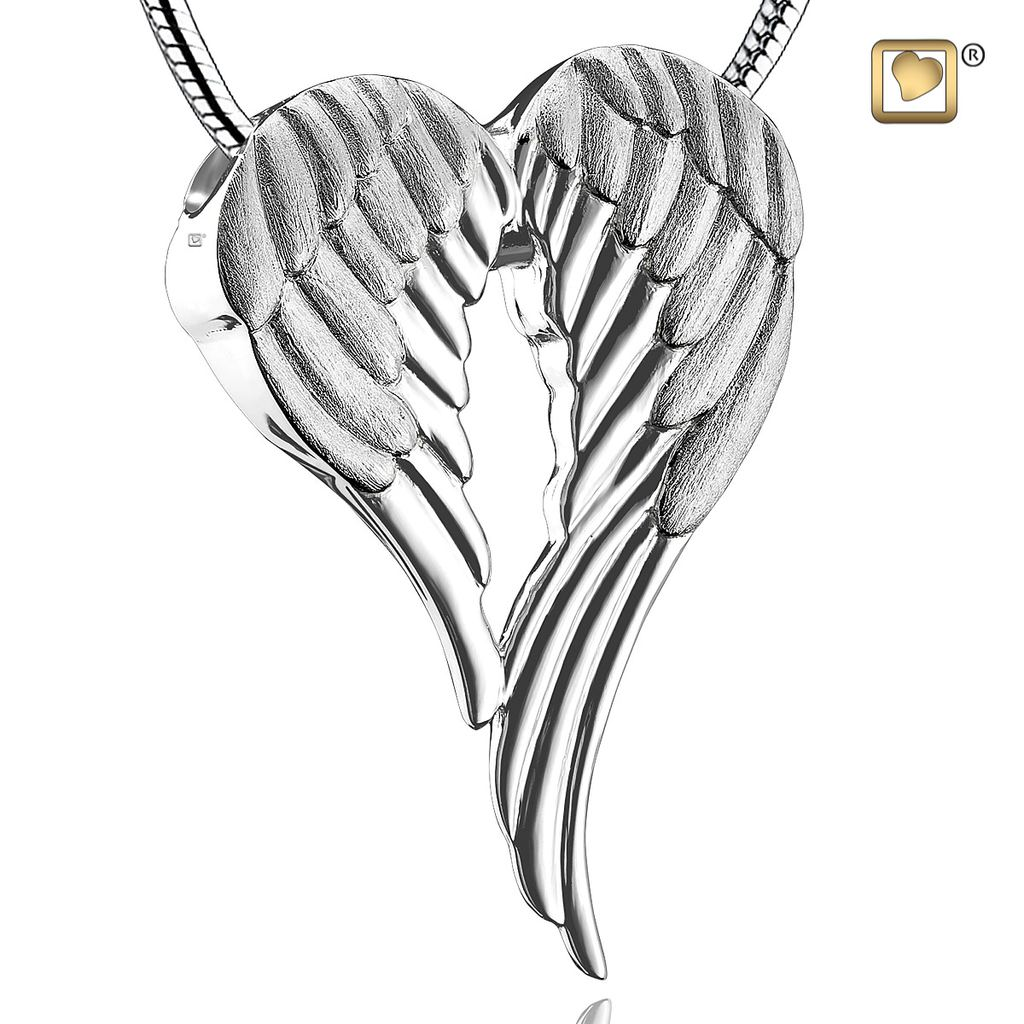 Angel Wings Urn Pendant