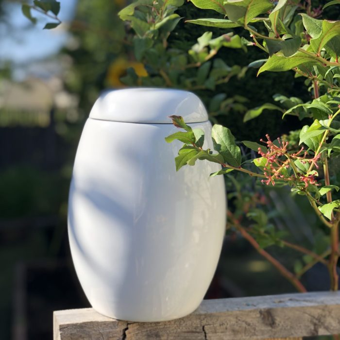 Always and Forever Memorial Products: White Fiberglass Urn