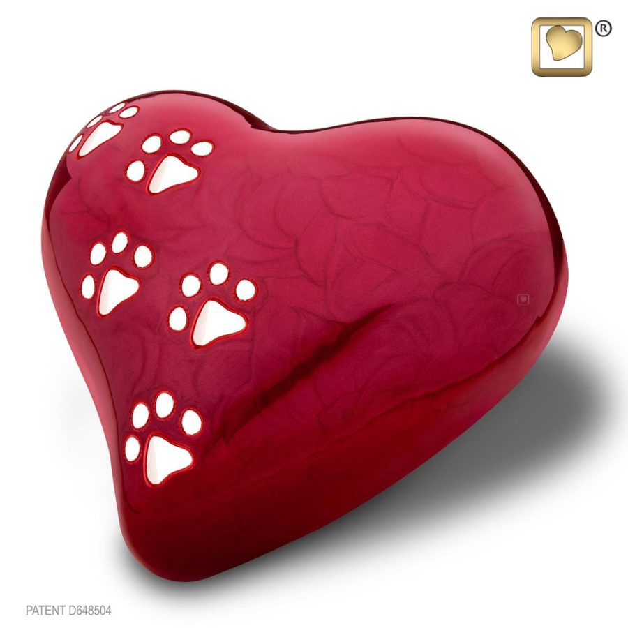 LovePaws Red – Large Urn