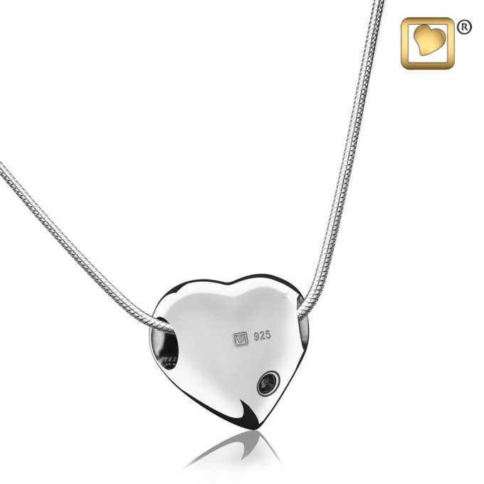 Always and Forever Memorial Products: Silver Love Heart Pendant