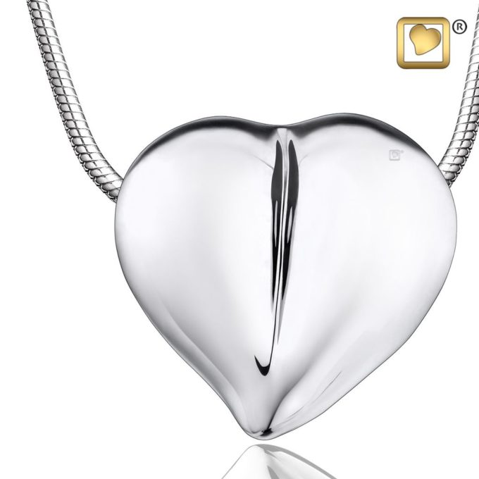 Always and Forever Memorial Products: Silver Love Heart Cremation Pendant