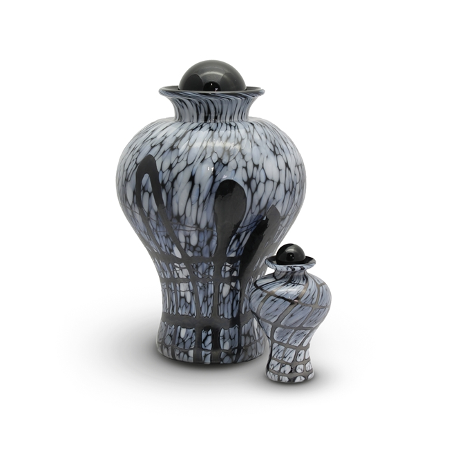 Black Textured Crystal Urn