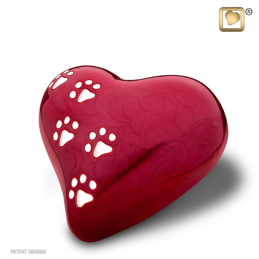 LovePaws Red – Medium Urn